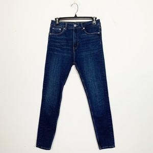 Zara High Rise Skinny Jeans Dark Wash Size 6